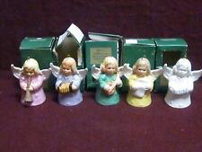 """5 Goebel 1976, 1977, 1979 & 1981 Angel Bells In Original Boxes 2 1/2"""""""