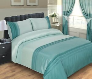 LUXURY DUCK EGG OPAL DUVET COVER / BED SET INCLUDING PILLOWCASES  - SIZE DOUBLE