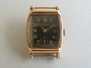 9ct SWISS DUNKLINGS  ROSE GOLD  1940s-50s  manual wind wristwatch.