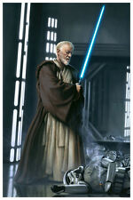 Obi-Wan Kenobi Lightsaber Death Star Stormtrooper Star Wars Large Fine Art Print