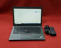 Lenovo ThinkPad T450 500GB HDD 8GB RAM Core i5 5300u 2.3GHz Windows 10 1600x900
