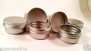 35pcs 1/2oz Nail Art Cream Lip Balm Tin Container Bottle Screw Thread 3515