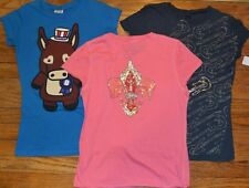 3 Juniors Medium Tops Rock Solid Sequenced Embellished T-Shirt TRIUMPH Guitar