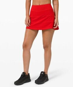 """NEW Lululemon Pace Rival Skirt *Tall 15"""" - Size 4 - Dark Red"""
