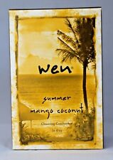 WEN By Chaz Dean Summer Mango Coconut Cleansing Cond. w/Pump NEW-sealed 16oz