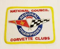 "Vintage National Council Corvette Clubs Regional Champions 1980 4"" X 3"" Patch"