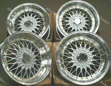 """8.5+10 x17"""" Silver RS G-S Alloy Wheels For Bmw 5 Series E12 E28 E34 E60 E61 F10"""