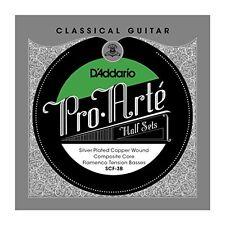 D'Addario Silver Copper on Composite Core Classical Guitar Half Set, Flamenco