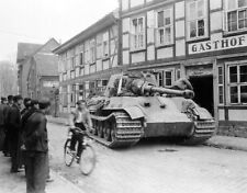 WWII Photo German Tiger II on Street Germany WW2 / 4038