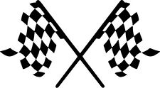 Checkered Flag Vinyl Sticker Decal Racing Stock Car F1- Choose Size & Color