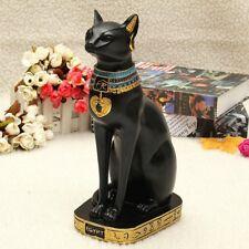 Vintage Egyptian Black Cat Bastet God Figurine Pharaoh Statue Home Garden Decor