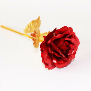 24k Gold Plated Forever Rose Romantic Glass Dome Gifts Valentine's Day Gifts