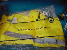 ML Kishigo Men's Hi-Visibility Yellow/Green PVC Rain Suite Jacket Bib Overalls