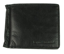 New Mens Hugo Boss Orange Black Leather Card Holder Card Case Wallet