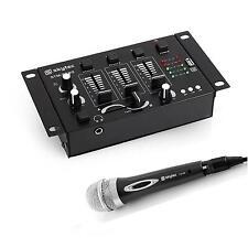 SET SKYTEC KARAOKE DJ FESTA MIXER 2/3 CANALI MICROFONO DINAMICO CARDIOIDE FILO
