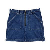 Topshop Womens Denim Skirt Size 10 Blue Short Length Good Condition