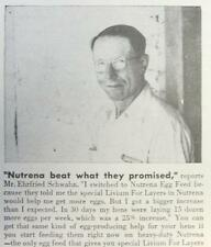 1951 Nutrena Feed Photo Ad Endorsed by Ehrfried Schwahn of Maple Grove Wisconsin