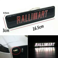 1Pcs JDM Ralliart LED Light Car Front Grille Badge Illuminated Decal Sticker