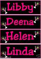 HEN NIGHT T SHIRT IRON TRANSFERS BDAY / STAG / NAMES ANY FONT & COLOUR ANY TEXT