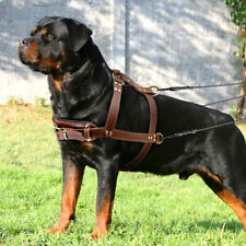 Leather Pet Dog Weight Pulling Harness for Large Dogs Heavy Duty Training Vest