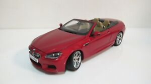 1:18 PARAGON BMW M6 CONVERTIBLE RED E63 (FULL OPEN) DIECAST CARS DEALER BOX