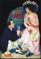 "TARGA VINTAGE ""COCA COLA DRINK""PUBBLICITA', ADVERTISING, POSTER, BAR PLATE"