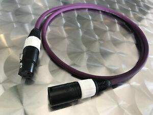 High End AES EBU XLR Kabel 1,0m Gotham GAC-2 Kabel Swiss Made Stecker Neutrik