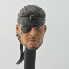 Solid Snake Metal Gear 1/6 cabeza Head Sculpt figura de acción Hot Toys carácter ps2