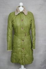 TOMMY HILFIGER Ladies' olive green puffer parka padded quilted coat XS 6 8