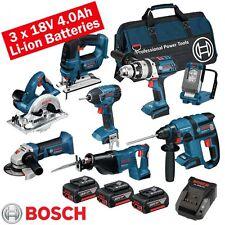 Bosch 18 volt cordless 8 piece li-on kit BOS18VKIT9