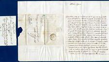 VAPRIO-CANONICA - 1844  Lettera prefilatelica indirizzata a Tirolo Itagliano (B)