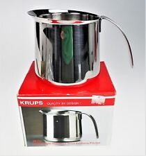 Krups Stainless Steel Frothing Pitcher 20oz Italian Style Froth Milk Coffee