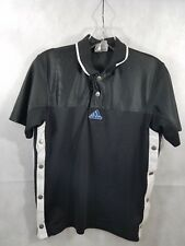 Adidas Vintage Youth Black White Tear away side Buttons Size Medium Basketball