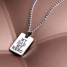 Fashion Necklace Pendant Jewelry Gift For Dad My Dad My Hero In My Heart 1Pc