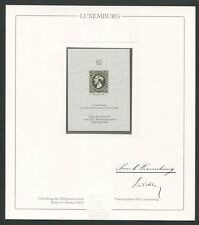 LUXEMBURG Nr. 1 OFFICIAL REPRINT UPU CONGRESS 1984 MEMBERS ONLY !! RARE !! z1617