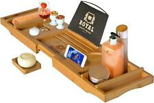 Wood Luxury Bathtub Caddy Tray, One or Two Person Bath and Bed Tray Perfect Gift