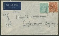 KGV Heads - CofA WMK: 1938 (Sept.1) Burnley, Vic. - GERMANY flown cover
