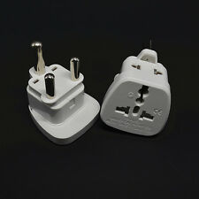 15A White AU UK US to Big South Africa Power Socket Plug Trip Adapter Converter
