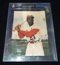 "CURT FLOOD, St. Louis Cardinals, signed 8""x10"" photo w/ JSA COA"