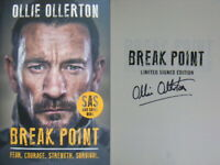Signed Book Break Point by Ollie Ollerton SAS Hdbk 1st Edn 2019 WHO DARES WINS