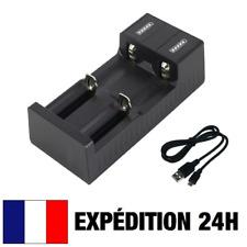 CHARGEUR USB UNIVERSEL 2 x PILES / BATTERIES RECHARGEABLES 18650 26650 14500...