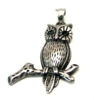 Owl Pendant Stainless Surgical Steel Hypoallergenic