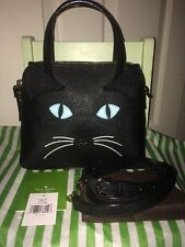 NEW KATE SPADE BLACK/MULTIPLE CAT'S MEOW CAT SMALL MAISE-RARE/SOLD OUT-PXRU5773