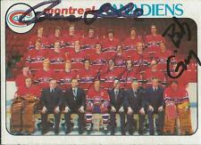Pierre Larouche Guy Lafleur Bob Gainey 1978 Topps Autograph #200 Canadiens