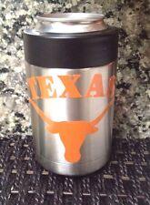 Texas Longhorns Decal for your Yeti Rambler Tumbler, Colster