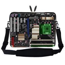"""15.6"""" Laptop Computer Sleeve Case Bag w Hidden Handle & Shoulder Strap 2906"""