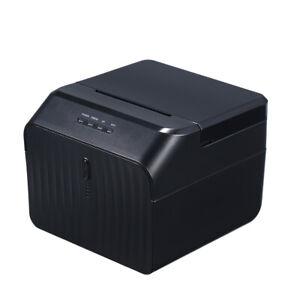STAMPANTE Termica 80mm Auto +Etichette USB Serial LAN Thermal Printer ITA C3D1
