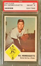 1963 FLEER #7 BILL MONBOUQUETTE PSA 8 BOSTON RED SOX