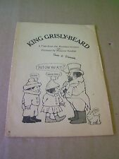KING GRISLY-BEARD ~ Vintage Magazine Pull Out ~  A Brothers Grimm Tale