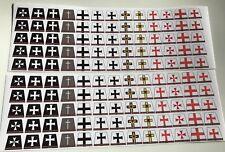130 custom stickers for TEUTONICS/ TEMPLAR KNIGHTS KINGDOMS - lego torso size